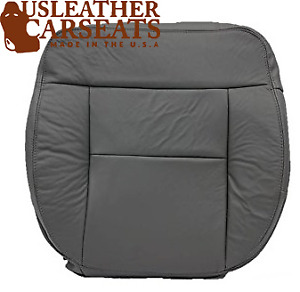 2004-2008 Ford F150 lariat Driver Bottom . Leather Seat Cover Gray