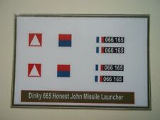 Dinky 665 Honest John Missile Launcher Stickers
