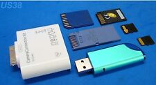 iPAD iPAD2 iPAD3 MINI MEMORY CARD FLASH DRIVE READER SD MS USB M2 MICRO MINI