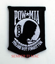 VIETNAM POW MIA COLLECTOR PATCH NOT FORGOTTEN BLACK USAF NAVY ARMY MARINES USA