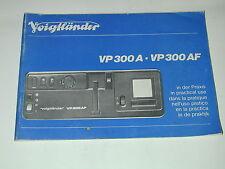 NOTICE VOIGTLANDER VP300A  VP300AF projecteur diapositive   photo photographie