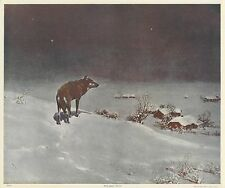 "ORIGINAL 1920 ""THE LONE WOLF"" PRINT - VICTOR KOWALSKI - NATIONAL ART CO NEW YORK"