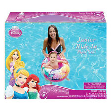 DISNEY PRINCESS JUNIOR RIDE IN BABY SWIMMING RING TUBE POOL FLOAT SEAT Ages 0-3