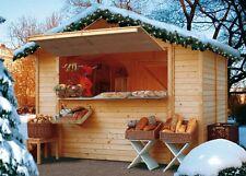 KARIBU Marktstand Weihnachtsmarktstand 2 x 3 m Verkaufsstand Verkaufstheke HOLZ