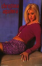 Music Poster~Christina Aguilera In Hot Pink Original Oop Solo Young 1990's Print