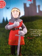 KNITTING PATTERN Alan Dart Sir Lancelot Toy Doll 34cm Knight King Arthur PATTERN