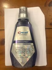 Crest3D Brilliance White Whitening Clear Mint Alcohol Free Mouthwash 946ml New
