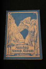 ANTIQUE Sunday Stamp Album for Church Year 1930-1931 c/w 55 stamps