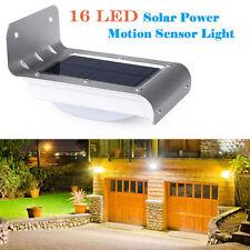 16-LED Solar Motion/Light Sensor Garden Security Light Outdoor Wall Lamp