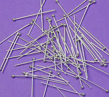 19mm length 24 gauge 0.60mm thick 925 Sterling Silver Ball End Head Pins 24pcs