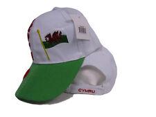 Wales UK United Kingdom Dragon Cymru Country Hat Cap 3D embroidered