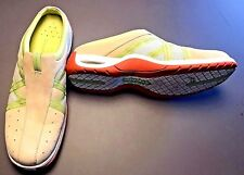 Cole Haan Beige Green White Suede Mesh Mules Sneakers Comfort Shoes Size 8 B EUC