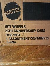 25th Anniversary Hot Wheels j Case, Set Of 8 Cars