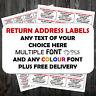 Personalised self adhesive mini return address labels 65 per sheet 38.1x21.2mm