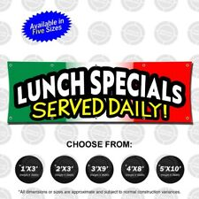 Lunch Specials Served Daily Banner Open Sign Restaurant Flag Display Food Comida