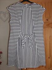 vero moda ladies white striped tie front dress uk sz small nwot