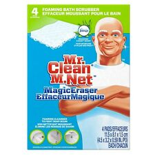 Mr. Clean Magic Eraser Foaming Bath Scrubber, Meadow - Rain Scent 4 ea (3 pack)