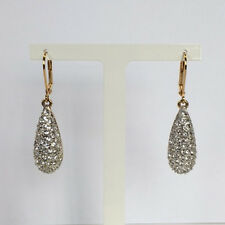 Cristalina 18k Gold Plated Crystal Pavé Pear Drop Earrings - Swarovski elements