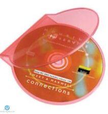 50 ROSA CHIARO Clam Shell in plastica di alta qualità Custodia Singola CD DVD memoria su disco
