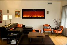 "Touchstone black 50"" Sideline wall electric fireplace. Recess or hang. FREE SH"