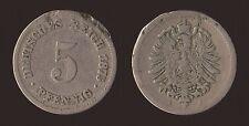 GERMANIA GERMANY 5 PFENNIG 1875 A