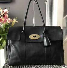 Beautiful Genuine Mulberry Heritage Bayswater Classic Handbag Black Leather