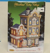 Heartland Valley Village Deluxe Porcelain Lighted House Fitch's Inn Christmas