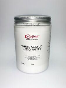 Cranfield (was Spectrum) White Acrylic Gesso Primer - Choose Size