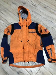 Men's Mammut Lhotse Goretex Shell Mountain Orange Jacket Size S