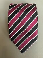 Stefano Ricci Luxury Collection Purple Black Striped Silk Tie Made in Italy