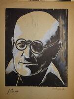 Emile H. TILMANS (1888-1960) Gravure PORTRAIT GEORGES DUHAMEL ART DECO 1940