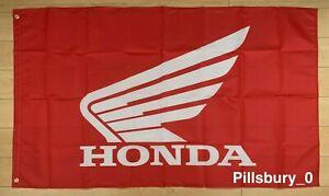 Red Honda Wing Motorcross Motorcycle Racing 3x5 ft Flag