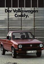 VW VOLKSWAGEN CADDY Golf I 1 Pickup Pick-Up Prospekt Brochure 1984 37