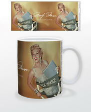 MARILYN MONROE GOLD 11 OZ COFFEE MUG FEMALE ACTOR MODEL BEAUTY DECOR TEA CUP USA