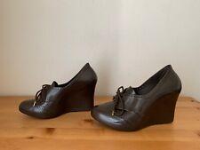 Melissa For Alexandre Herchcovitch Women sz 7B Brown Jelly Wedge Heels