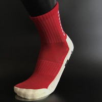 Red Football Grip Non Slip Socks Like Trusox