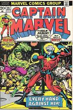 Captain Marvel Comic Book 25, Marvel Comics 1973 VERY FINE