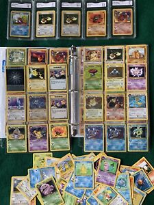 Pokemon Card Collection Lot Binder Wotc Holos 40+ First Editions HOLO CHARIZARD