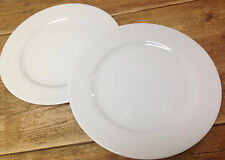 Apilco Concorde White Porcelain France French Classic 2 Chop Large Dinner Plates