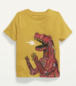 Old Navy Toddler Boy ~ Dino Robot ~  Short Sleeve Tee T-Shirt ~ Size 3T