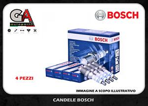 Candele Fiat Panda 500 1.2 Gas Grande Punto EVO 1.4 Alfa Mito Bosch 0242135515