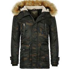 Young & Rich Herren Camouflage Parka Winterjacke warm gefüttert Tarn MilitärLook
