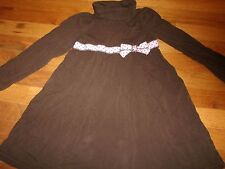GYMBOREE DRESS SIZE 5 YEARS WINTER SCHOOL CHURCH SWEETER THAN CHOCOLATE BROWN
