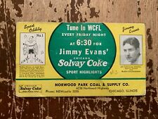 Vintage Jimmy Evans Solvay Coke Norwood Park Coal Chicago Ink Blotter