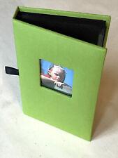 Green Canvas Photo Album, 4 x 6inch (10 x 15cm) Photos, Holds 36 Photos.