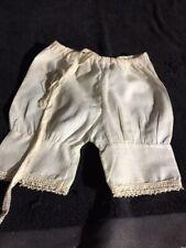 ANTIQUE cotton underpants for FRENCH doll Jumeau Steiner Bru antique lace size 8