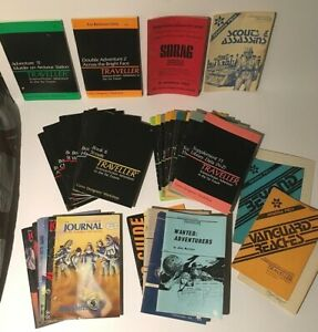 Lot of 34 Traveller Science-Fiction Adventure In The Far Future GDW RPG 1970's