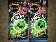 illooms Light Up PUNCH! Balloon ~ SET OF 2 ALIEN BALLOONS GLOWS for 15hrs