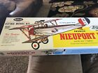 """Guillow's Nieuport 11 24"""" Laser Cut Scale Rubber Powered Flying WWI Fighter 203"""