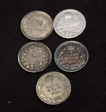 Canada 5 Cents 1902 1906 1907 1919 1920